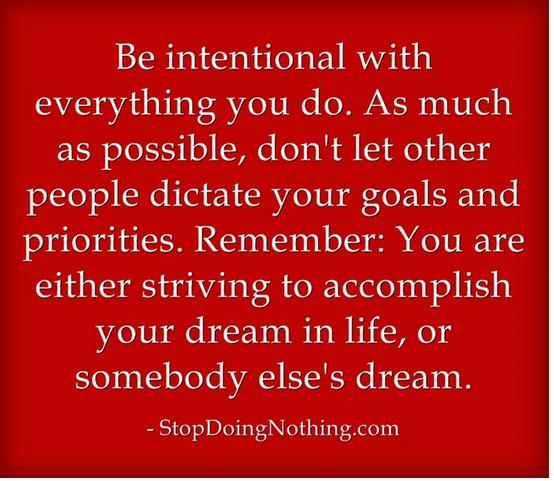 Start Living Intenionally