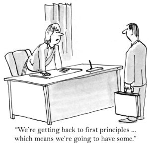 """""""We're getting back to first principles ... when means we're going to have some."""""""